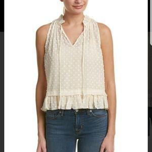 Rebecca Taylor silk box clip ruffle blouse xs 0